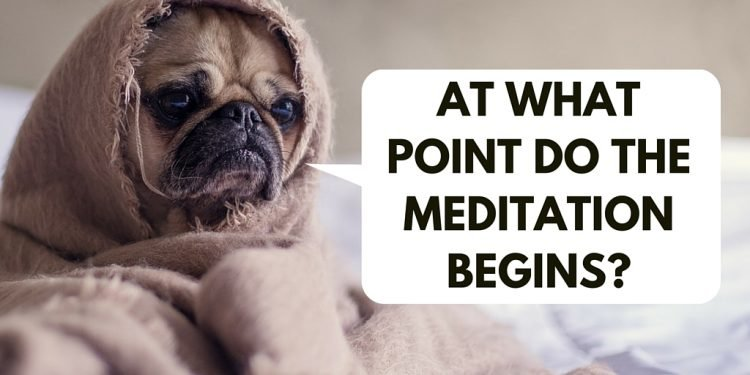 At what point do the Meditation begins?