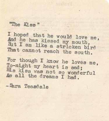 Famously Gorgeous Love Poems For Him The-Kiss-by-Sara-Teasdale