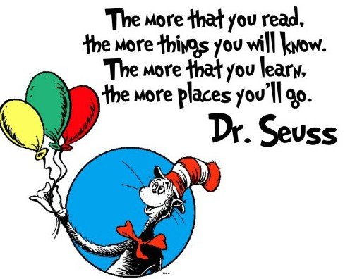 dr seuss sayings about reading