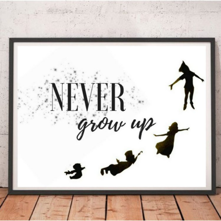 peter pan quotes about growing up