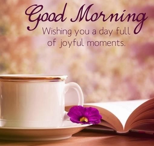 good morning images with joy