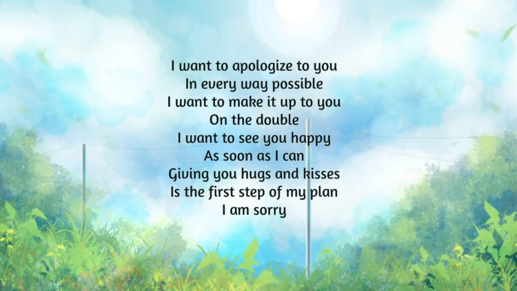 18+ Thoughtfully I'm Sorry Poems To Sincerely Apology
