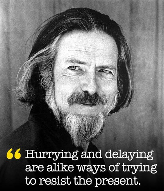 alan watts quotes about present
