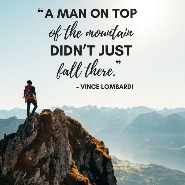 vince lombardi quotes mountain