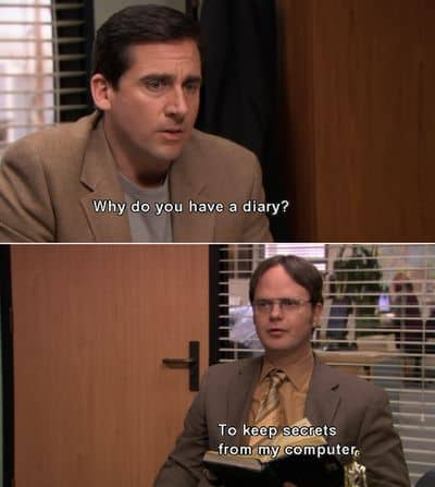 dwight schrute quotes about diary