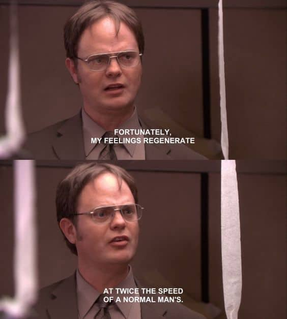 dwight schrute quotes about feelings