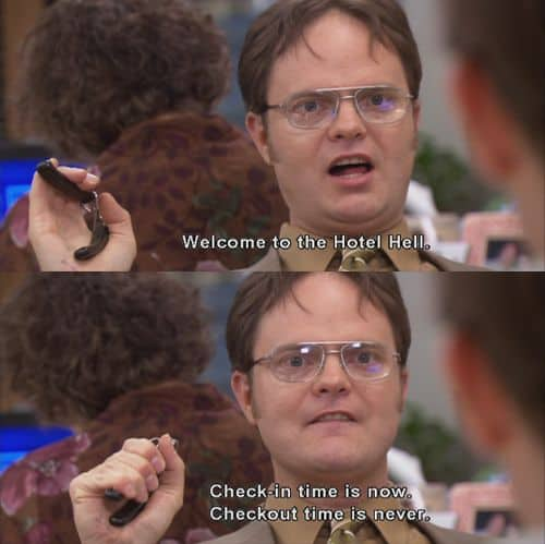dwight schrute quotes about hell
