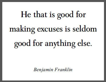 excuses quotes and sayings