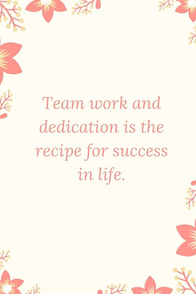 best dedication quotes on success in life