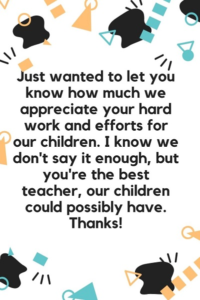 most powerful thank you note to teacher