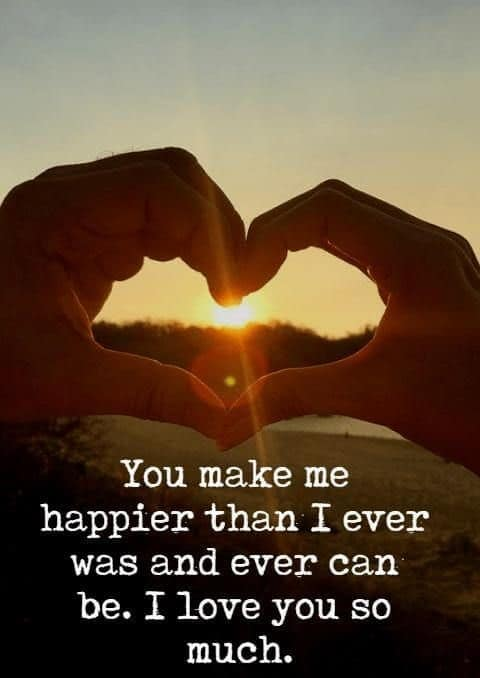 you make me happy message