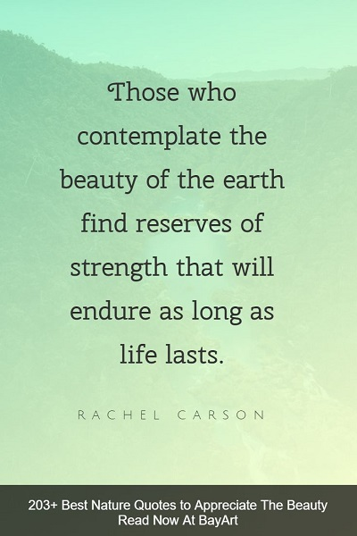 best nature quotes and sayings