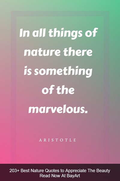 best nature quotes of all time