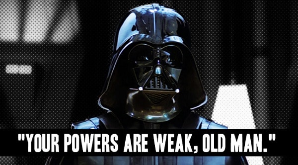 darth vader lines and quotes