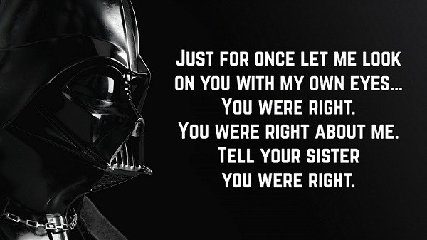 darth vader quotes to luke