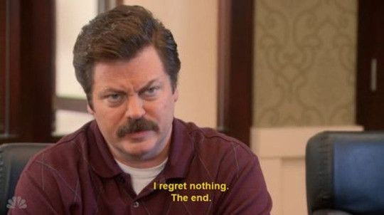 parks and rec quotes about regret