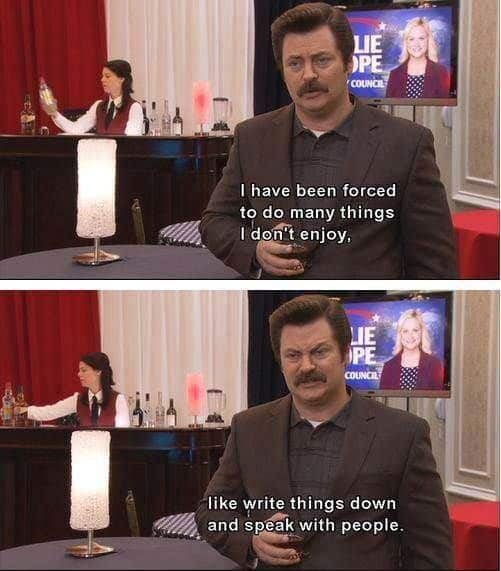 parks and rec quotes from ron