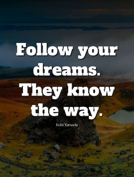 quotes for follow your dreams