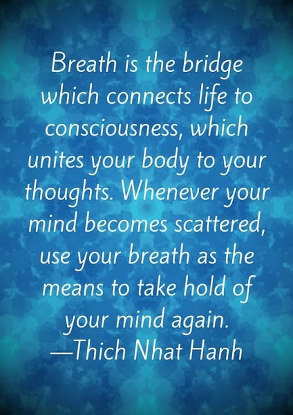 thich nhat hanh quotes on breath