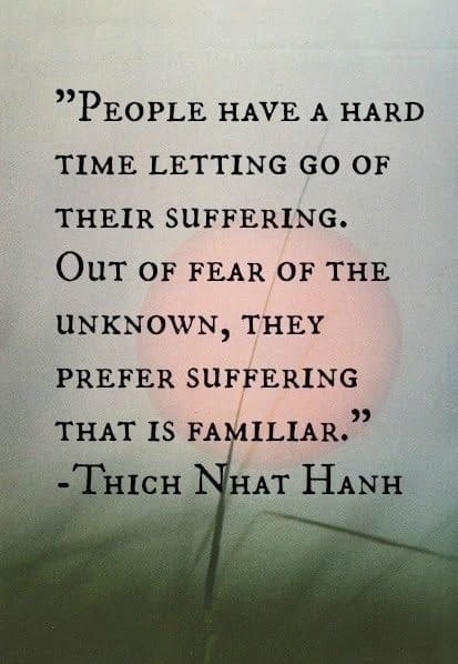 thich nhat hanh quotes on letting go suffering