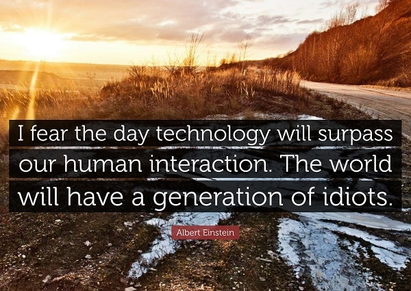 einstein quotes about technology