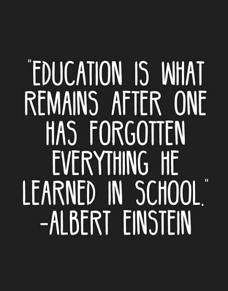 einstein quotes on education