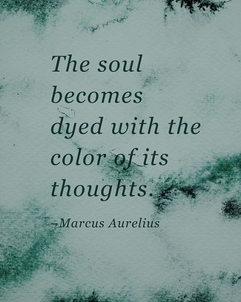 marcus aurelius sayings the soul becomes
