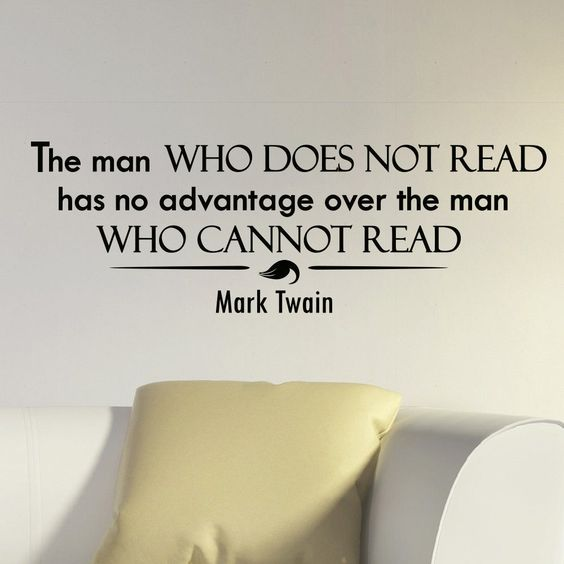 mark twain quotes about reading
