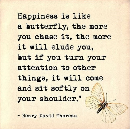 thoreau quotes about happiness