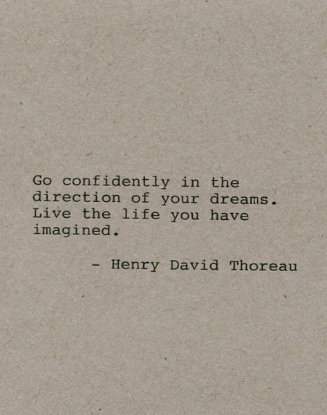 thoreau quotes go confidently