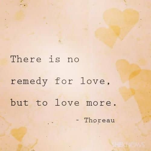 thoreau quotes on love