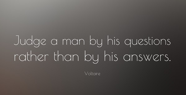 voltaire saying judge a man