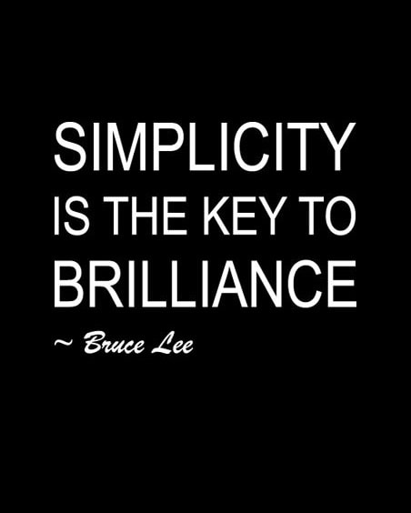 bruce lee quotes on simplicity
