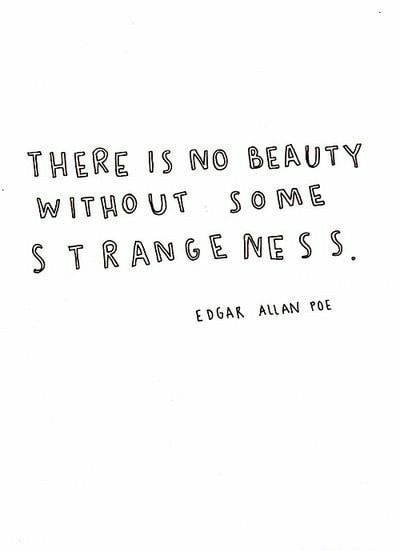 edgar allan poe quotes beauty strangeness