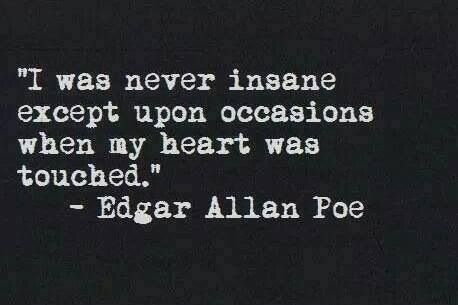 edgar allan poe quotes never insane