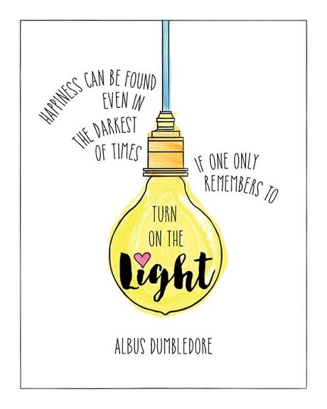 light quotes dumbledore