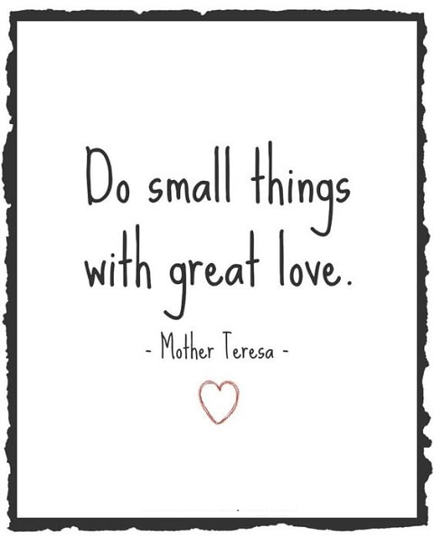 mother teresa quotes small things