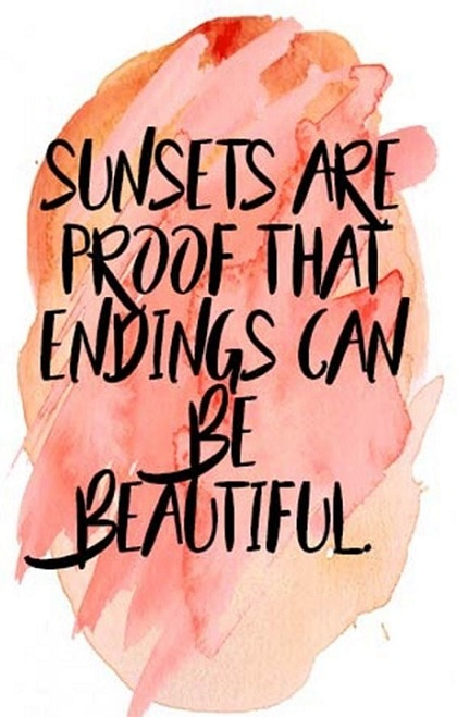 positive sunset quotes