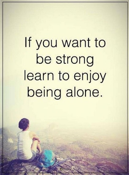 quotes about being strong on your own