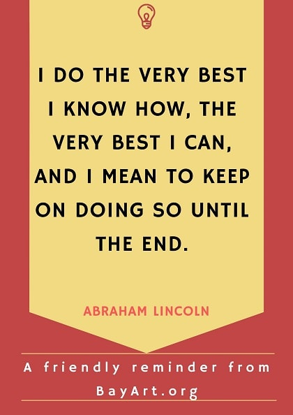 abraham lincoln quotes inspirational