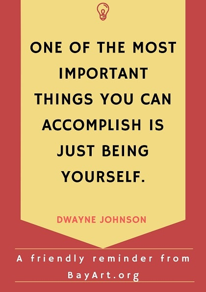 dwayne johnson quotes be yourself