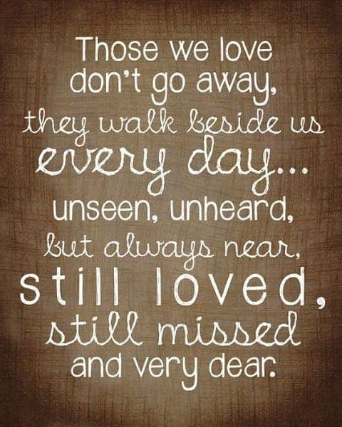quotes for losing a loved one