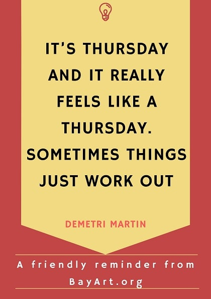 thursday quotes for work