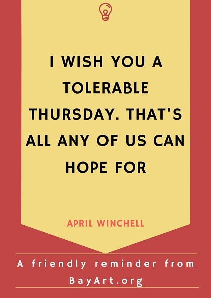 thursday quotes funny