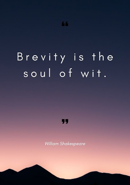 william shakespeare quotes on brevity