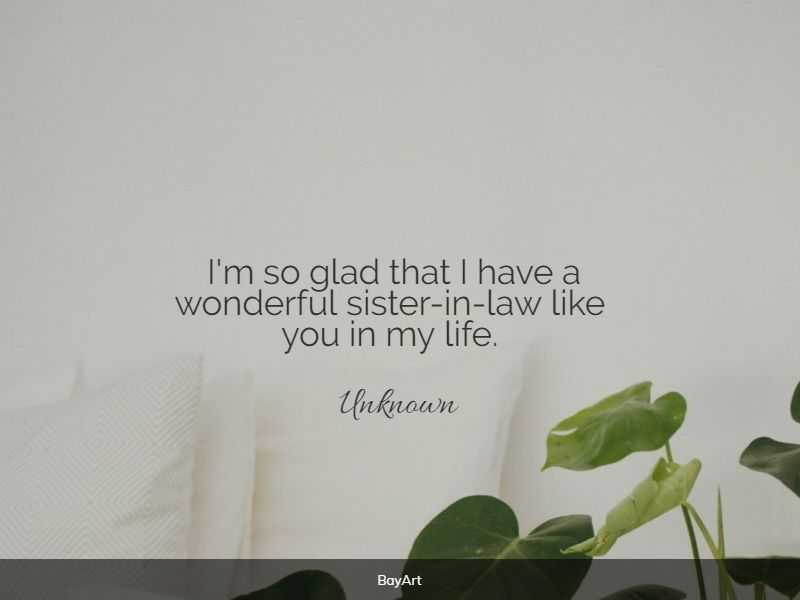 sweet sister in law quotes
