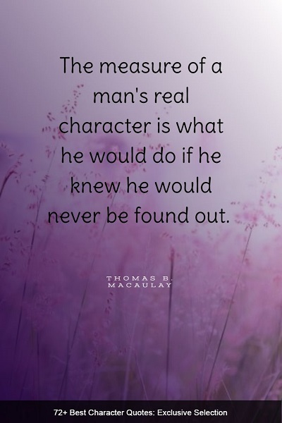 best character quotes and sayings ever