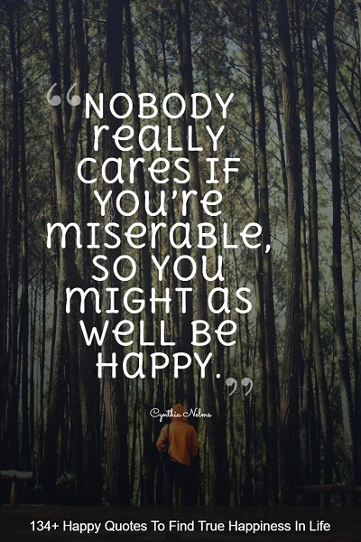 famous happiness quotes and sayings about life with images