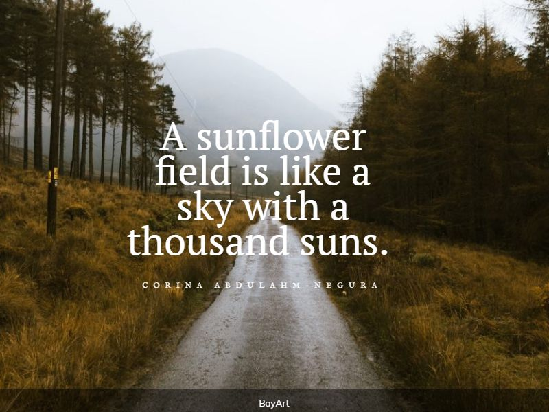 top sunflower quotes