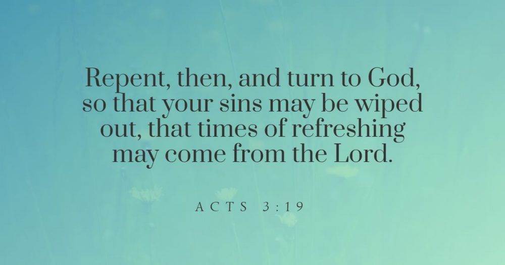 Bible verses and scripture quotes on repentance